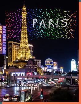 gala drone light show Las Vegas